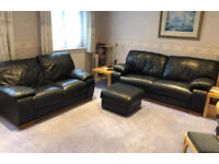 """Caramel, Incanto, """"Naif"""" Bluey Grey, 3 & 2 seater Leather Suite (Original RRP £2377)...can deliver"""