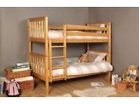 Wood Pine Bunk Bed