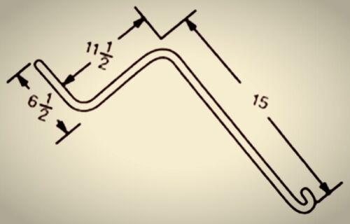 "(25) Twenty Five 6.5""x11.5""x15"" Wheel Rake Teeth Tine Fits Otma,H & S,Sitrex,M&W"
