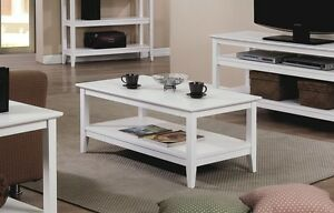 New Quadra White Coffee Table