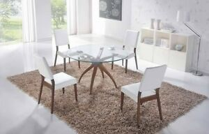 5pc  round glass dinette set