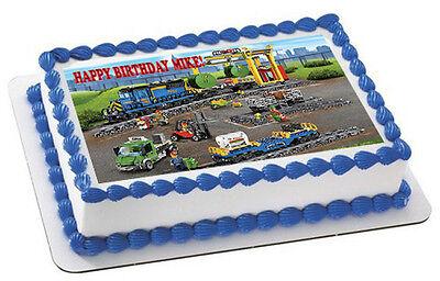 Cargo Train - Edible Cake Topper OR Cupcake Topper, Decor