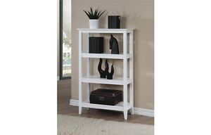 New Quadra White Tall Bookcase