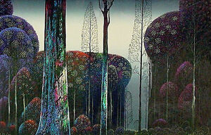 Eyvind-Earle-Gothic-Forest-MAKE-OFFER-DSS
