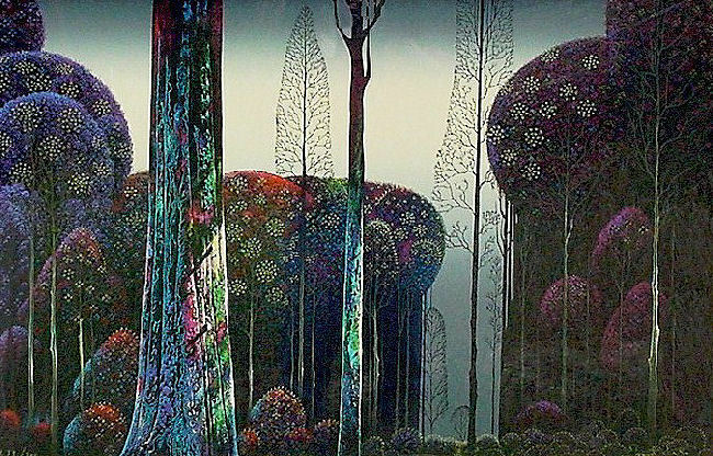 """Eyvind Earle     """"Gothic Forest""""    MAKE  OFFER    DSS"""
