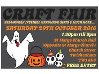 Saturday 29th October 2016 - TWICKENHAM CRAFT FAIRS - St Marys Church Hall, Twickenham - HALLOWEEN