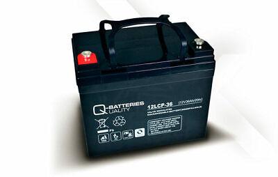 Batería para carro de golf/moto eléctrica Q-BATTERIES AGM 12LCP-36 12v 36ah