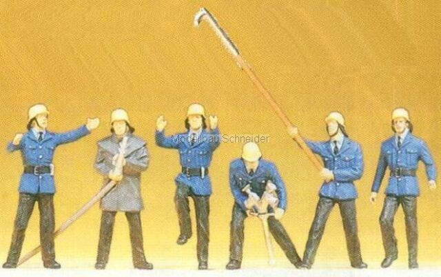 H0 Preiser 14203 Firefighters figures. orig. Packaging