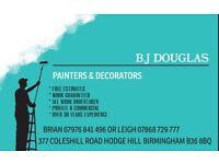 B J DOUGLAS Painters & Decorators 07976 - 841 - 496