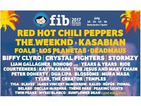 2 x FIB 2017 4-DAY MUSIC FESTIVAL TICKETS IN SPAIN JULY 13-16 2017 + RETURN FLIGHTS (12 & 18 JULY)
