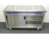 SPREAD THE COST OVER 4 MONTHS! Immaculate Victor 1600mm 4 x 1/1 GN Bain Marie Hot Cupboard Servery