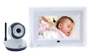 """2.4G Wireless Baby Monitor with 7"""" LCD, Night Vision and speaker"""
