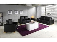BRAND NEW-Italian Bonded Leather Sofa Set 3, 2 And 1 Seater||Delivered All Over London||Sale Now On