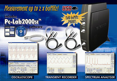 Velleman Pcsu1000 Two-channel Usb Pc Oscilloscope