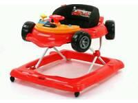 Hauk red racing car baby walker