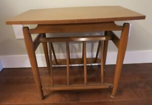 Imperial Mid Century Modern Retro Solid Wood End Table Canada
