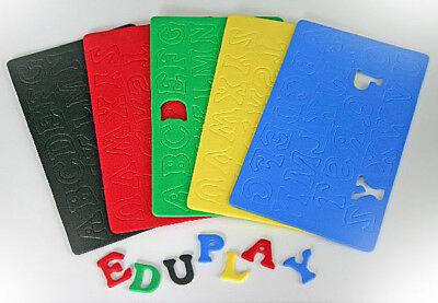 Moosgummi GROßBUCHSTABEN Buchstaben ABC Alphabet Moosgummibuchstaben 130 Stück