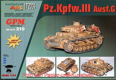 GPM 210 - Pz.Kpfw. III Ausf. G, Limitierte Aufl. - 1:16