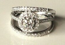 18ct White Gold Halo Ring 0.55 Carat Round Brilliant Cut Diamond Bronte Eastern Suburbs Preview