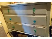 Grey chest of drawers dressing table upcycled