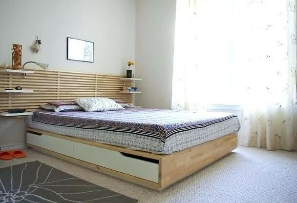Comfy 1 Yr Old Ikea Mandal 4 Storage Drawers King Size Bed With Deluxe Mattress In St Johns