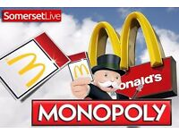 Mcdonalds Monopoly Stickers WANTED! All Propertys / Instant wins