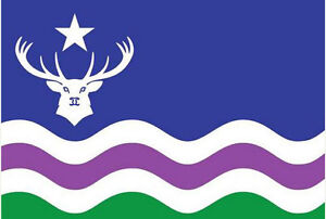 Exmoor Flag 5 x 3 FT - 100% Polyester With Eyelets - England Deer Somerset