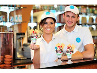 LOOKING FOR STAFF MEMBERS TO WORK AT DESSERT, ICE CREAM PARLOR, THIS JOB WILL SUIT A YOUNG STUDENT