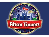 Alton towers wed 17 august x 4.can post