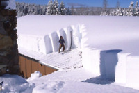Residential roof snow removal