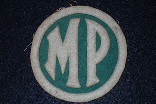 WWI US Army Military Police MP Shoulder Patch SSI