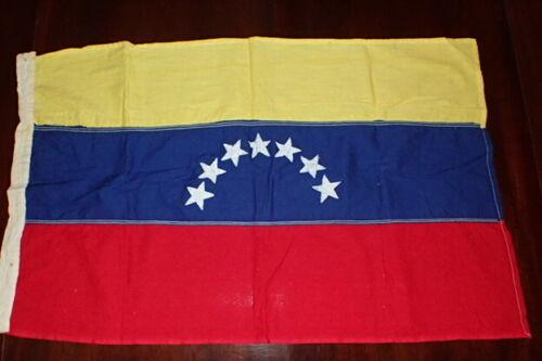 Vintage 1960s Venezuela State Flag Ensign 20 1/2 X 33 Inches Original Period Mfg