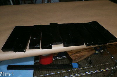 10 Pc Gabon Bridge Blanks Quartersawn Ebony  Guitars  Jet Black   Knife Scales