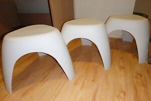 2 x brand new white designer elephant stools chairs Strathfield Strathfield Area Preview