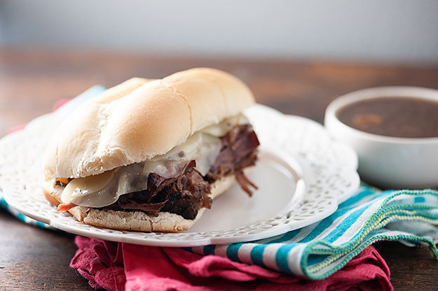 Juicy french dip sandwiches in the crockpot!