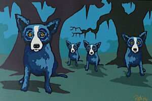 "... about Blue Dog George Rodrigue ""Walkin' to New Orleans"" MAKE OFFER"