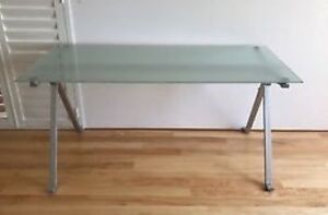 Freedom frosted glass top table Neutral Bay North Sydney Area Preview