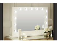AUDREY HOLLYWOOD MIRROR IN WHITE GLOSS 80*110CM