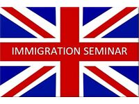 FREE Immigration Seminar for EU, Spouse and Citizenship applications - Limited Places