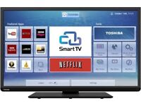 40-Inch Toshiba smart wifi builtin led tv with freeview HD -- Excellent condition