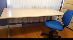 IKEA desk/table and chair,