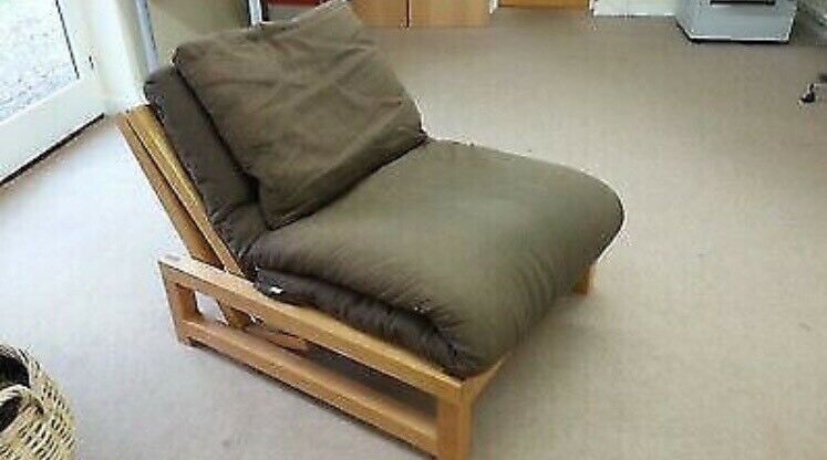 official photos 74e19 df448 Single futon, sofa bed/armchair by Futon Company, ultimate trifold mattress  & pillow,great condition   in Ealing, London   Gumtree
