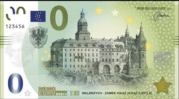 Banknot Poland 0 Memo Euro Zamek Książ 2021
