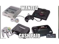 RETRO / VINTAGE / OLD VIDEO CONSOLES AND GAMES WANTED - NINTENDO / SEGA ETC