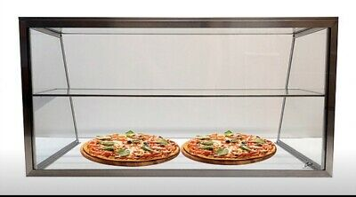 Carib 36 3ft Stainless Steel Sneeze Guard Pizza Display Case W Undershelf