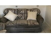 Reversible Chenille 3+2 seaters sofas