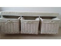 Shoe Storage with Cushion Seat