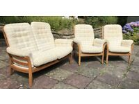 Ercol Saville 2 Armchairs and Double Seater Reupholstery Project