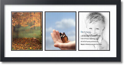 """ArtToFrames Collage Mat Picture Photo Frame - 3 8x10"""" Openin"""