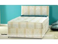 4ft6 Double Orthopaedic Divan Bed with Mattress FREE Next Day Delivery Essex London Call 07752278720